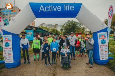 Tadeáš, Vilko a Riško na štartovej čiare Healthy run Košice